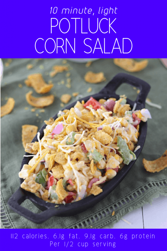 10 minutes light potluck corn salad pinterest pint with nutrition info