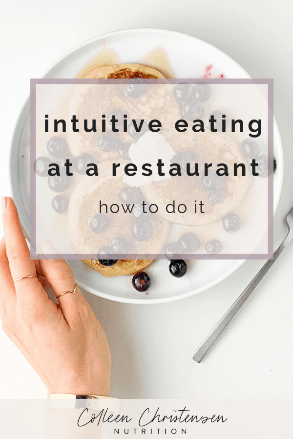 intuitive eating at a restaurant