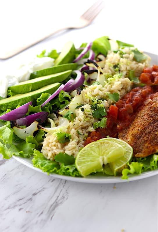 Southwest Grilled Tilapia Salad