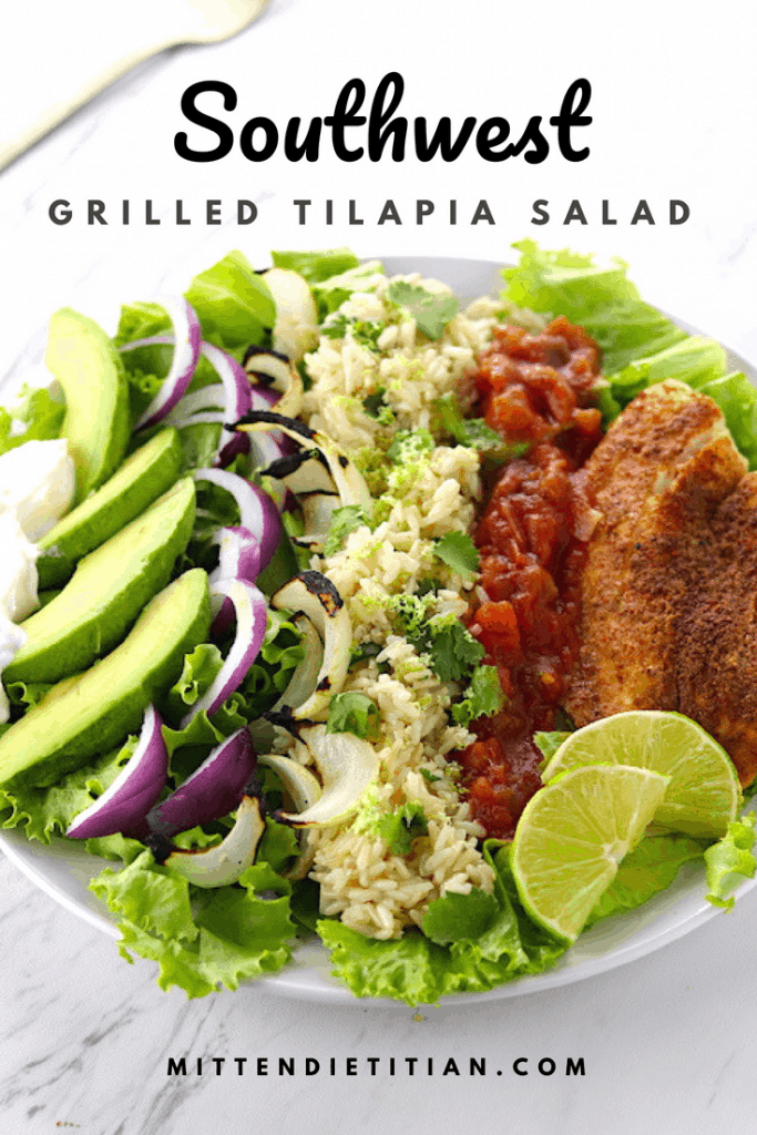 Southwest Grilled Tilapia Salad A simple and quick meal!