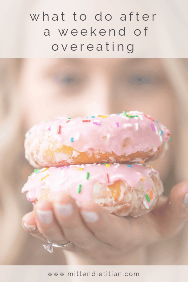 what to do after a weekend of overeating