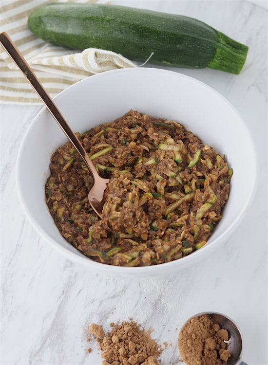chocolate zucchini cauliflower oatmeal