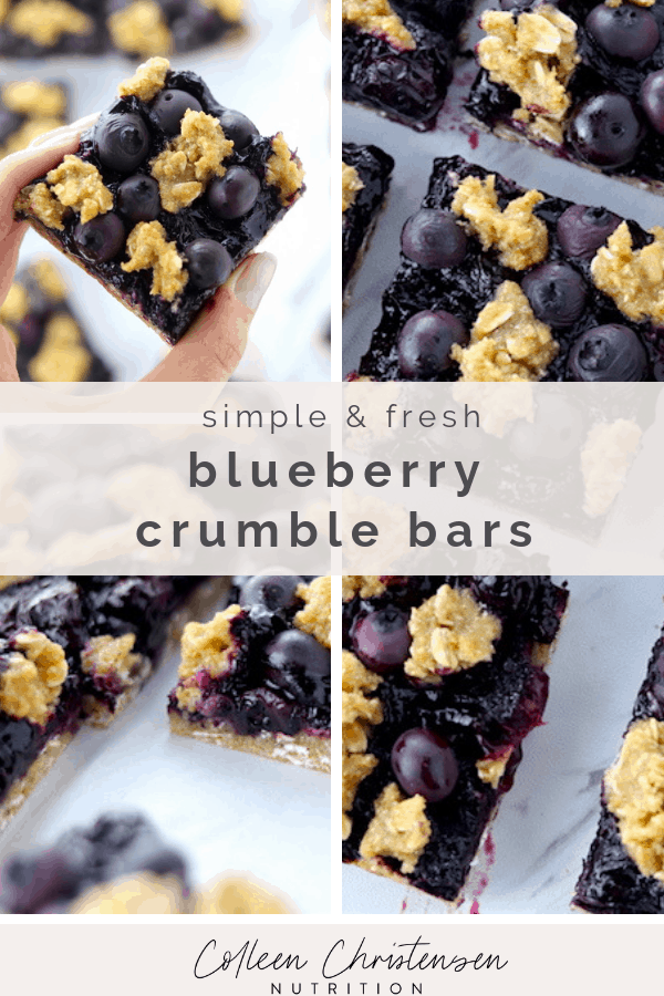 simple blueberry crumble bars