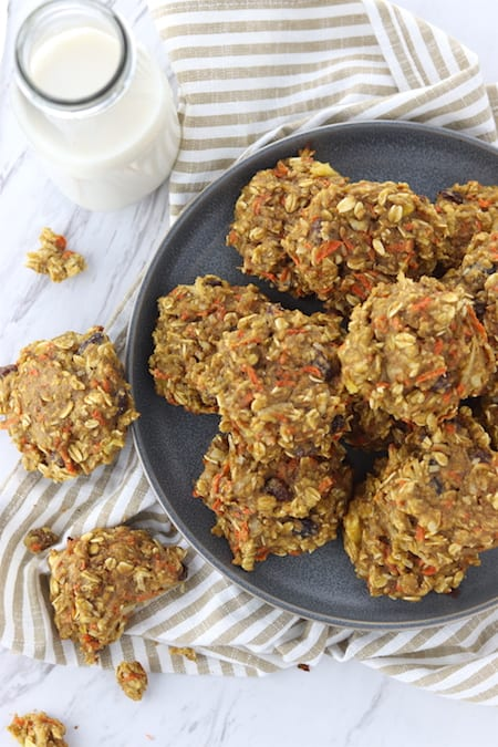 morning glory breakfast cookies on a plate