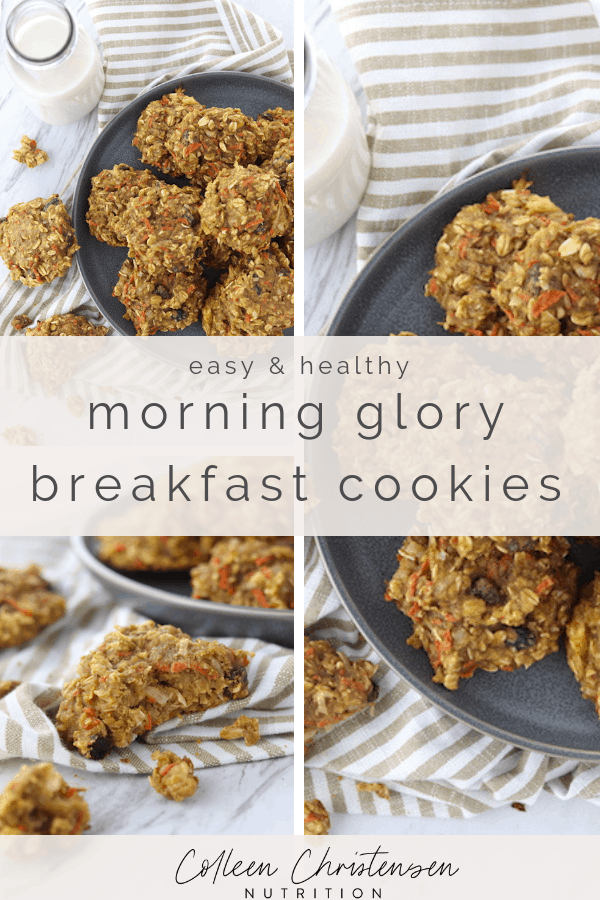 easy & healthy morning glory breakfast cookies