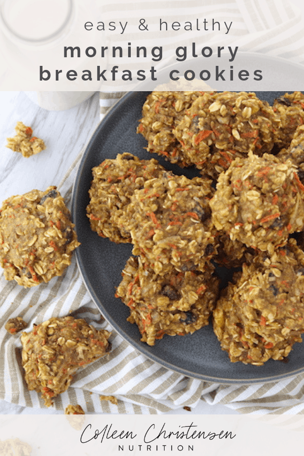 easy morning glory breakfast cookies