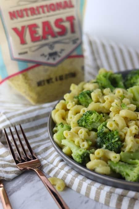 "Nutritional Yeast + Vegan Broccoli Mac And ""Cheese"""