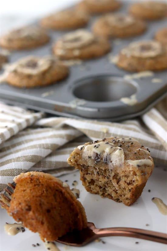 chia tahini banana mini muffins bit
