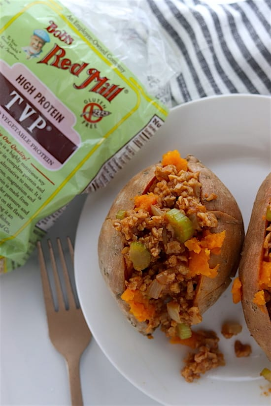 vegan sloppy joe sweet potatoes