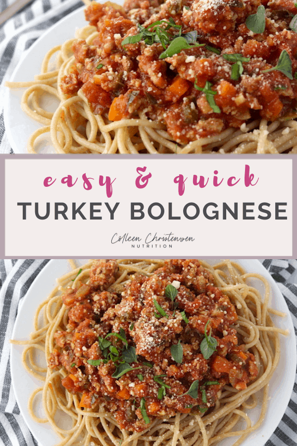 easy & quick turkey bolognese