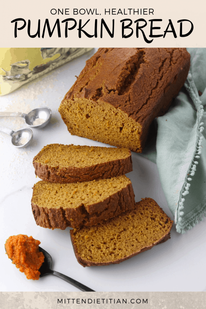 The BEST one bowl healthier pumpkin bread! It's healthy with whole wheat flour, low fat, low sugar and so easy to make!