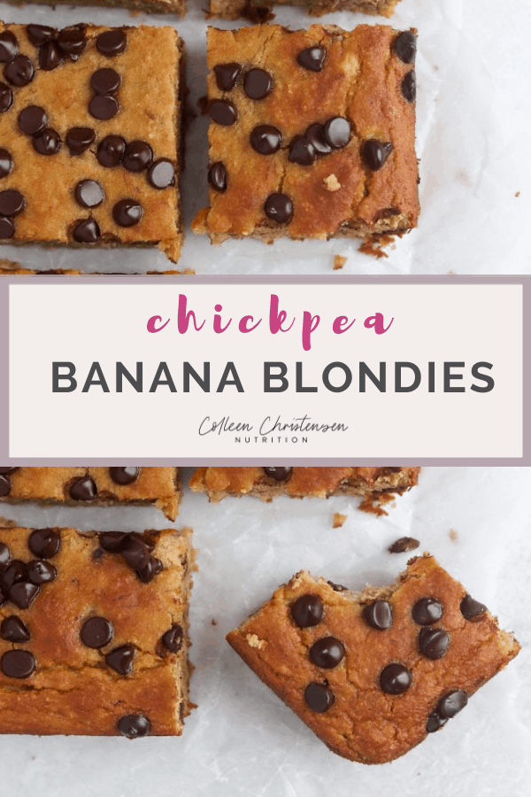chickpea banana blondies