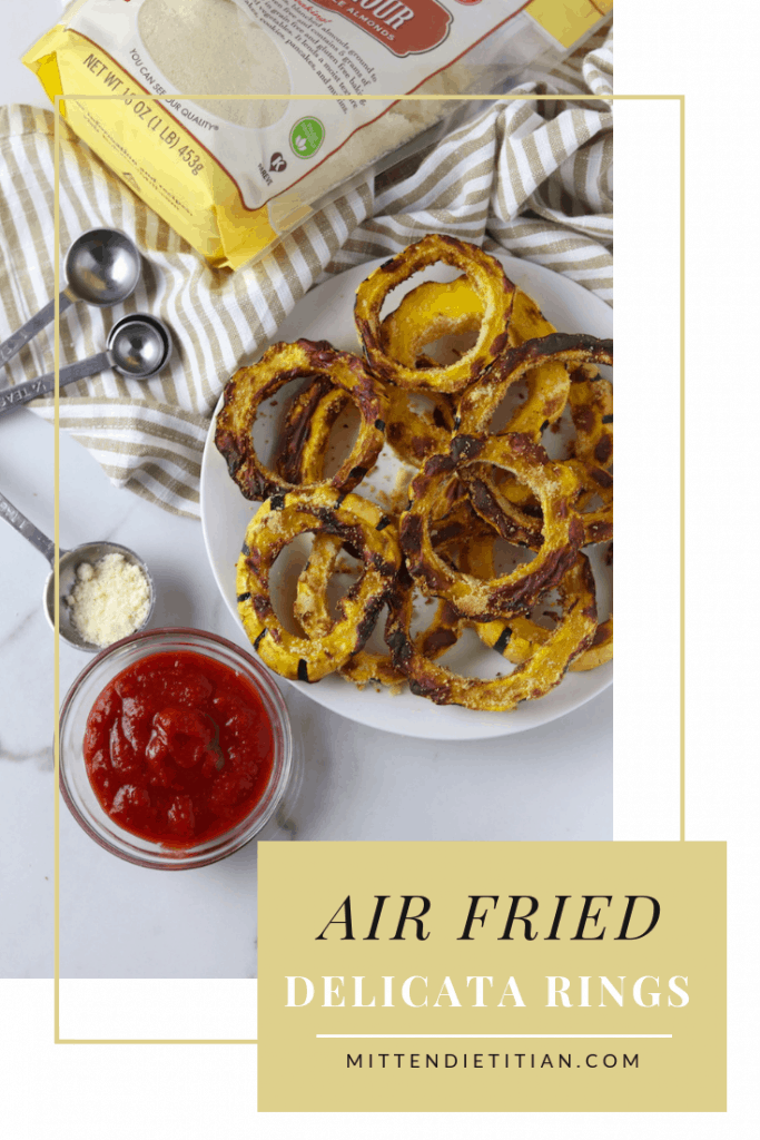 These easy air fried delicata rings are a healthier alternative to fries and onion rings!!!    #easy #healthy #delicata #airfryer #yum