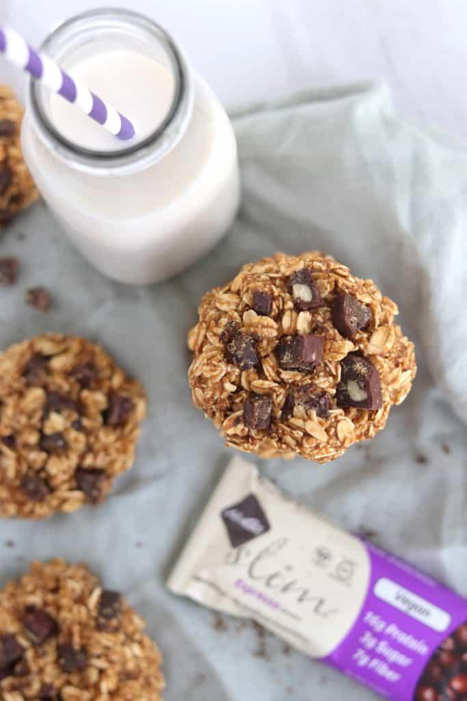 Vegan & gluten free dark chocolate espresso breakfast cookies