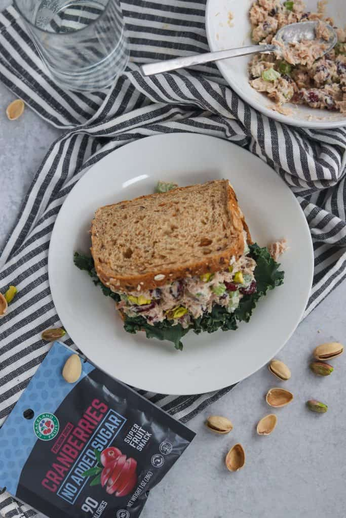 Cranberry Pistachio Tuna Salad