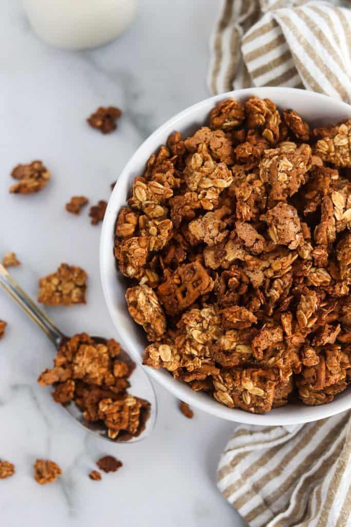 cinnamon pretzel granola