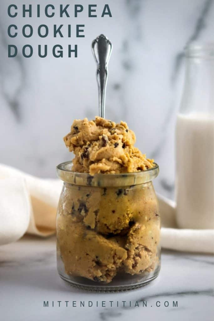 This chickpea cookie dough is insanely easy to make and tastes like the real deal with no eggs! It takes only 10 minutes and 7 ingredients you likely already have!