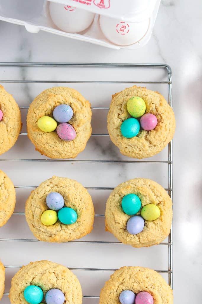 almond birds nest cookies