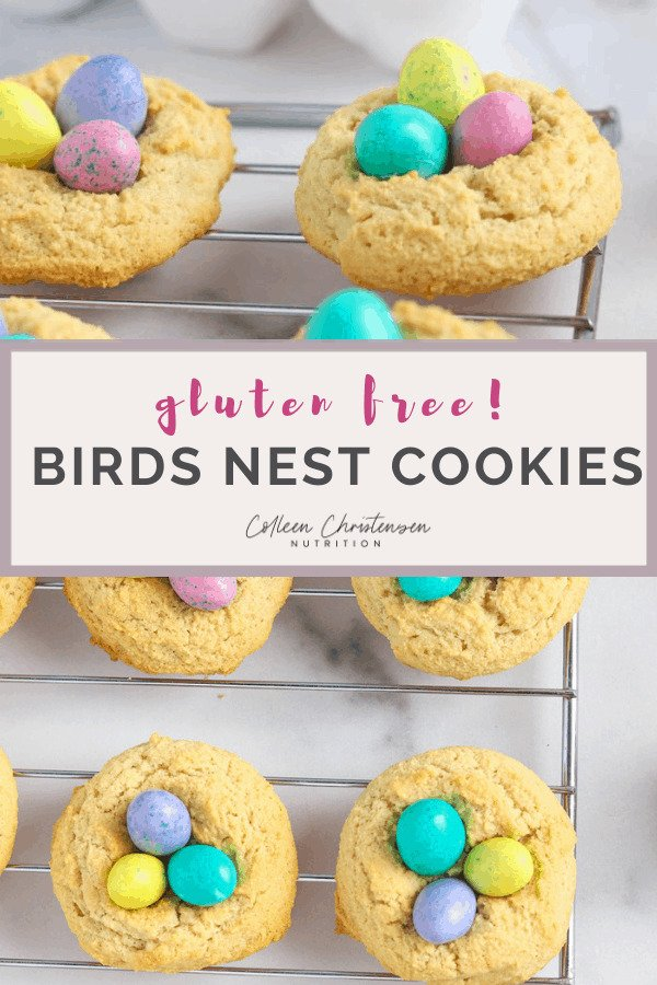 gluten free almond flour birds nest cookies