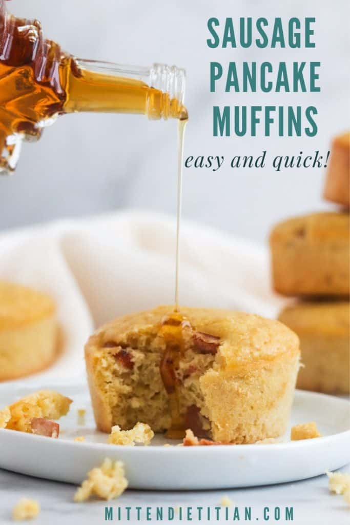 These easy 5 ingredient sausage pancake muffins make even the craziest weekday feel like weekend bliss!!!