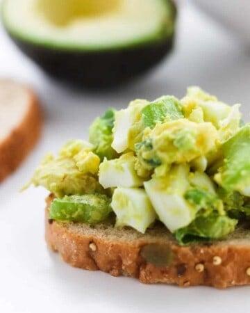 easy avocado egg salad no mayo