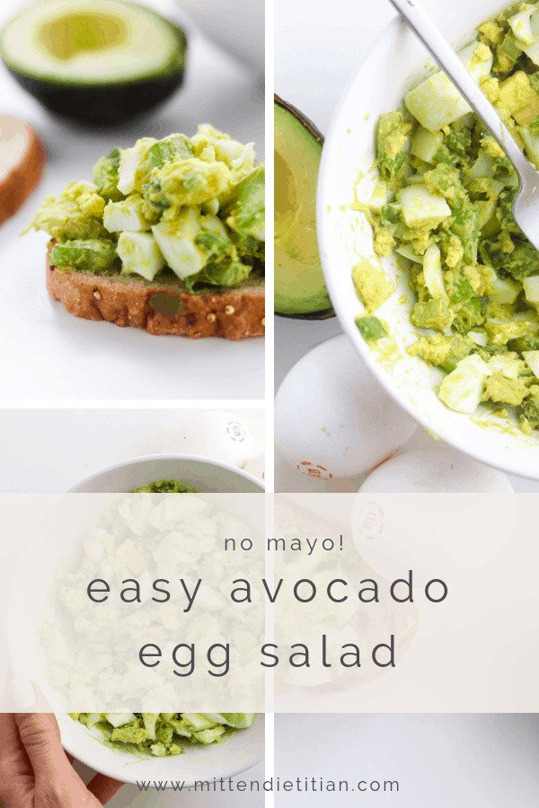 easy avocado egg salad no mayo