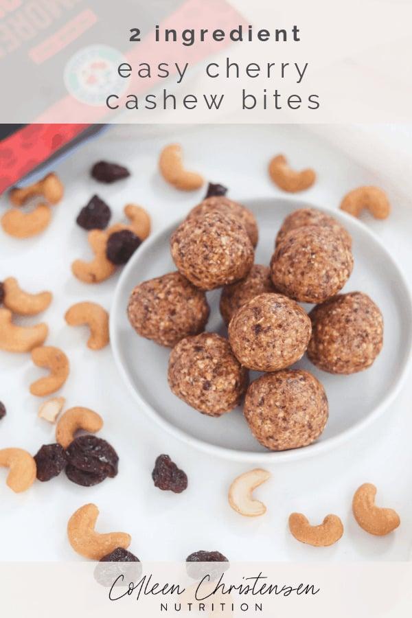 2 ingredient cherry cashew bites