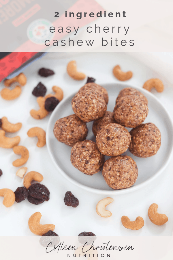 2 ingredient cherry cashew  bites