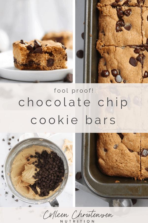 Fool Proof Chocolate Chip Cookie Bars