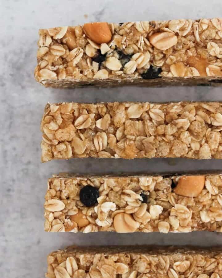 easy homemade chewy granola bars