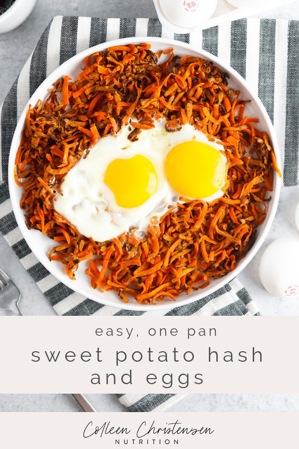 sweet potato hash & eggs