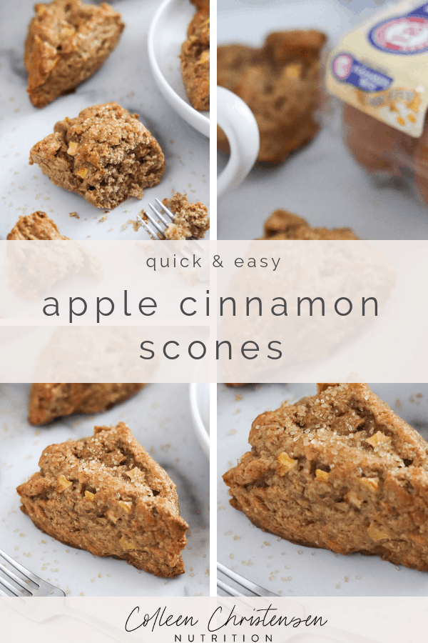 easy apple cinnamon scones
