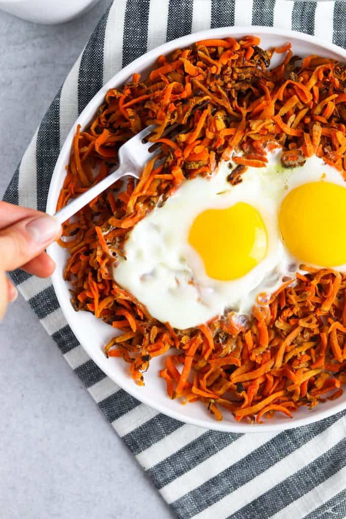 sweet potato hash & eggs