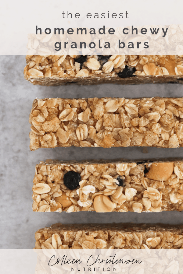 easy homemade chewy granola bars