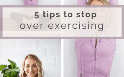 How To Stop Over Exercising