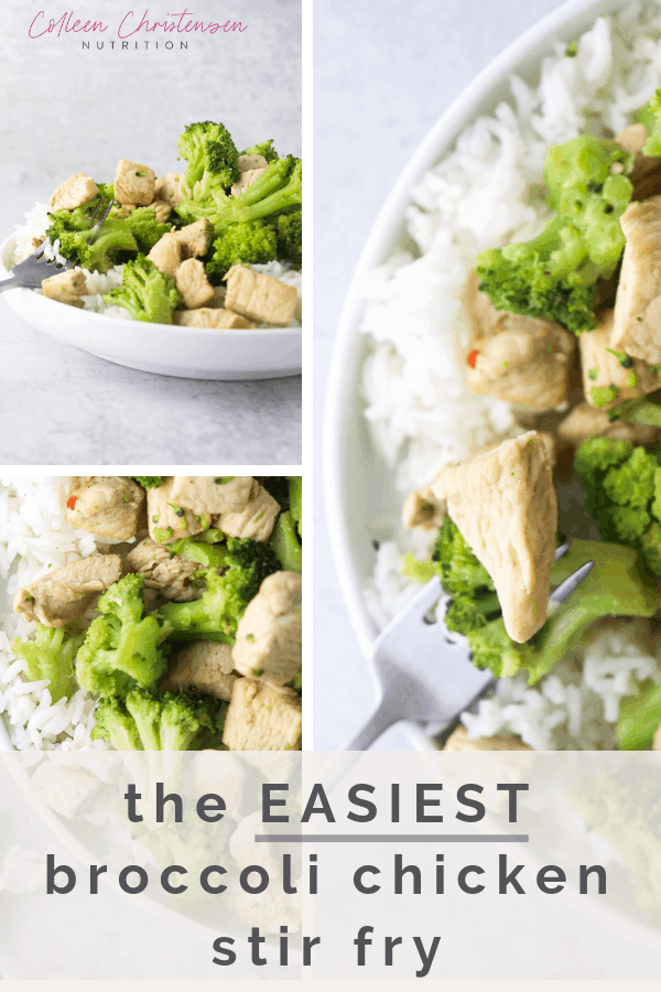 the easiest broccoli chicken stir fry