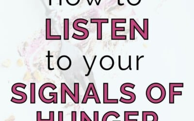 how to listen to your signals of hunger