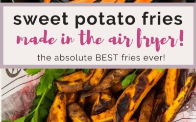 sweet potato fries made in the air fryer,