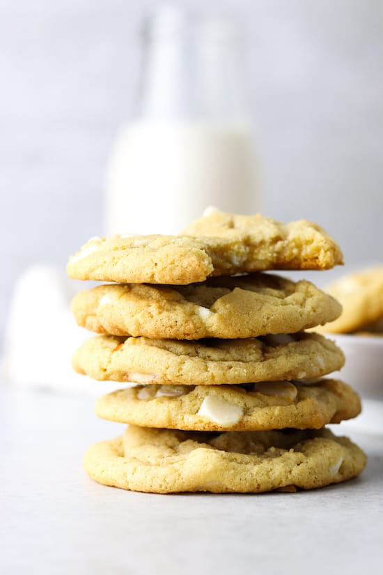 double white chocolate cookies