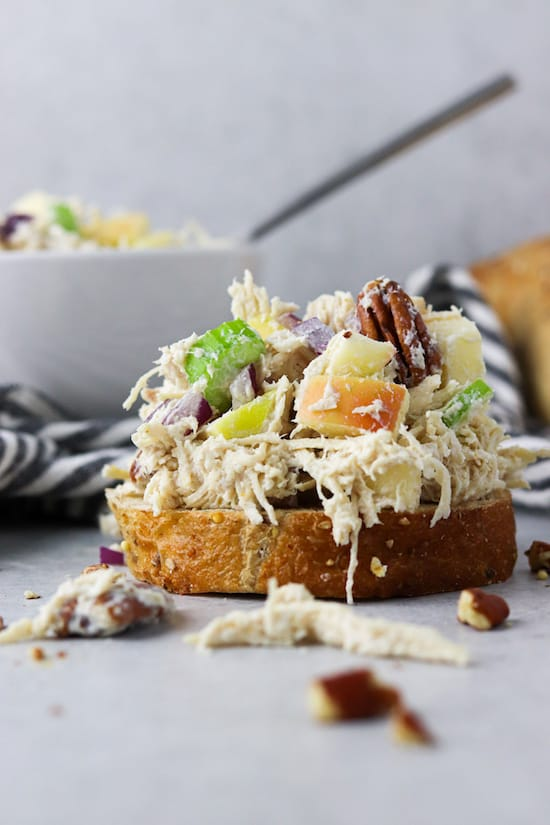 pecan chicken salad with apples