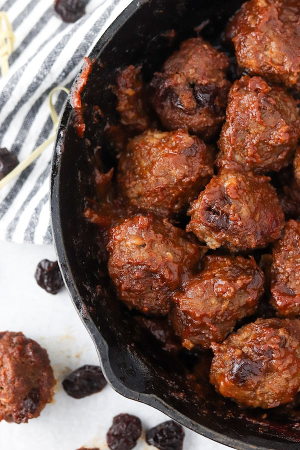 cherry bison meatballs
