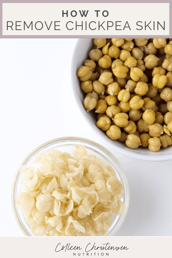 chickpea skin removal
