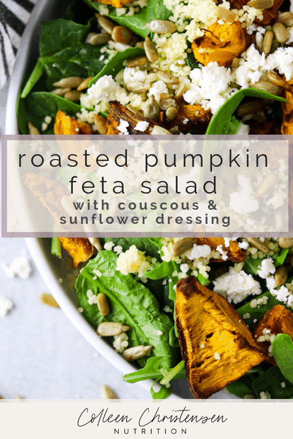 roasted pumpkin and feta salad
