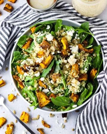roasted pumpkin feta salad