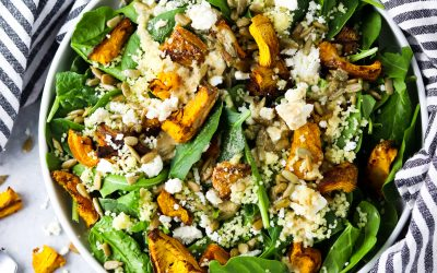 roasted pumpkin feta salad