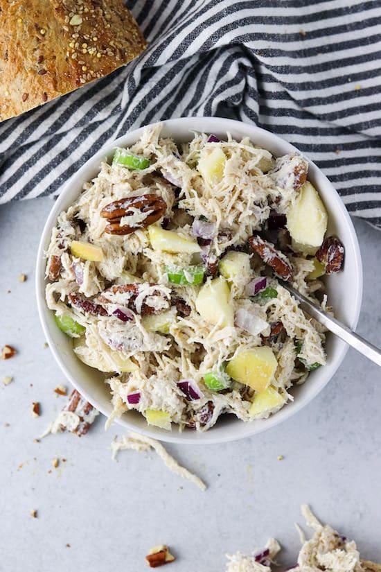 pecan chicken salad with apples