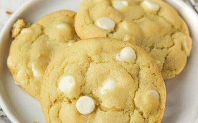 double white chocolate chip cookies.