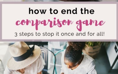 how to end the comparison game for good