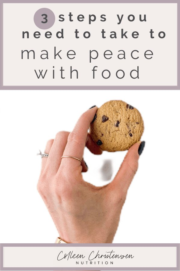 how to make peace with food