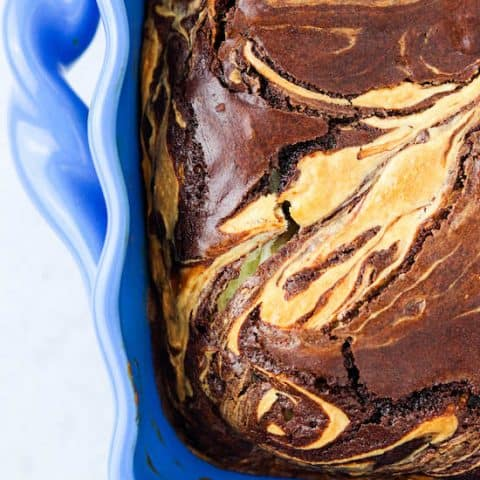 Bourbon Cream Cheese Brownies